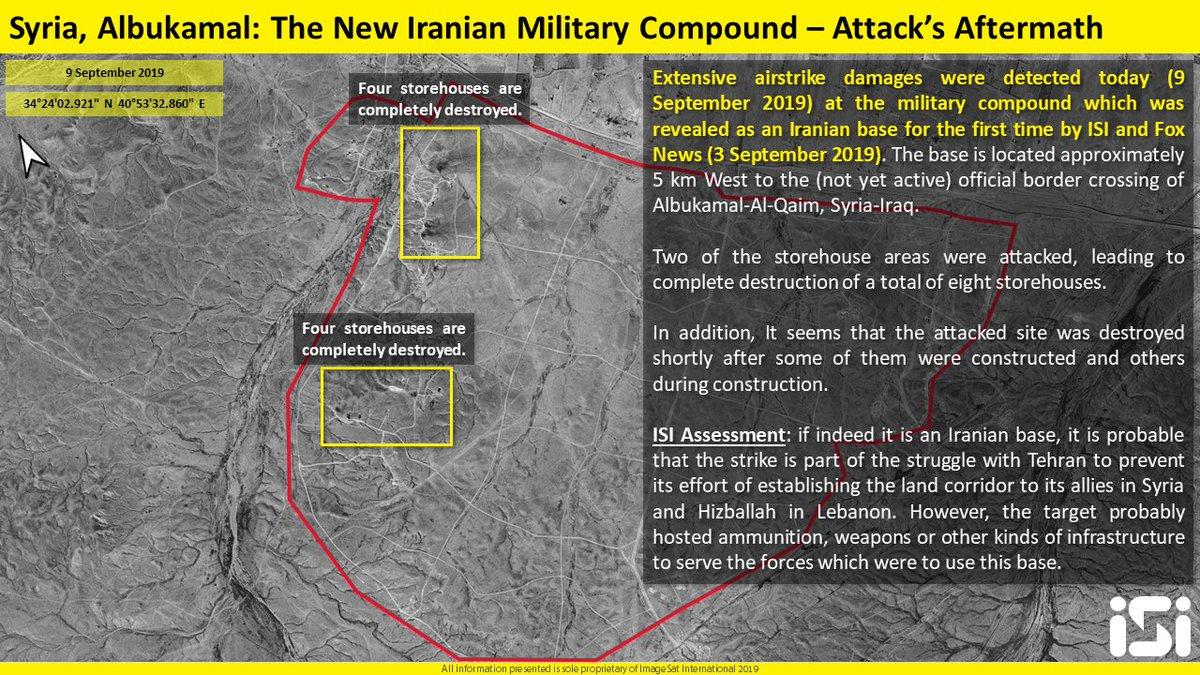 سوريا.. انفجارات بالبوكمال استهدفت مقرات لميليشيات عراقية EECaaLSX4AEcscX