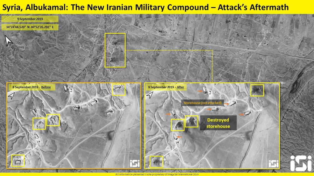 سوريا.. انفجارات بالبوكمال استهدفت مقرات لميليشيات عراقية EECabkTXoAY7IPA