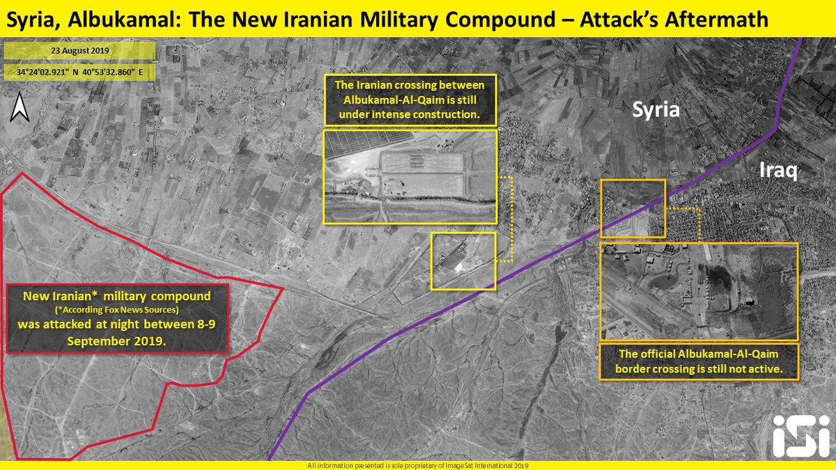 سوريا.. انفجارات بالبوكمال استهدفت مقرات لميليشيات عراقية EECacVmWsAE6DmY