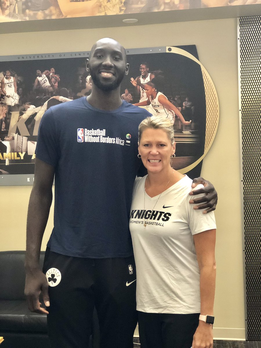 Look who stopped by today! What a special guy! @celtics @tackofall99 #UCF