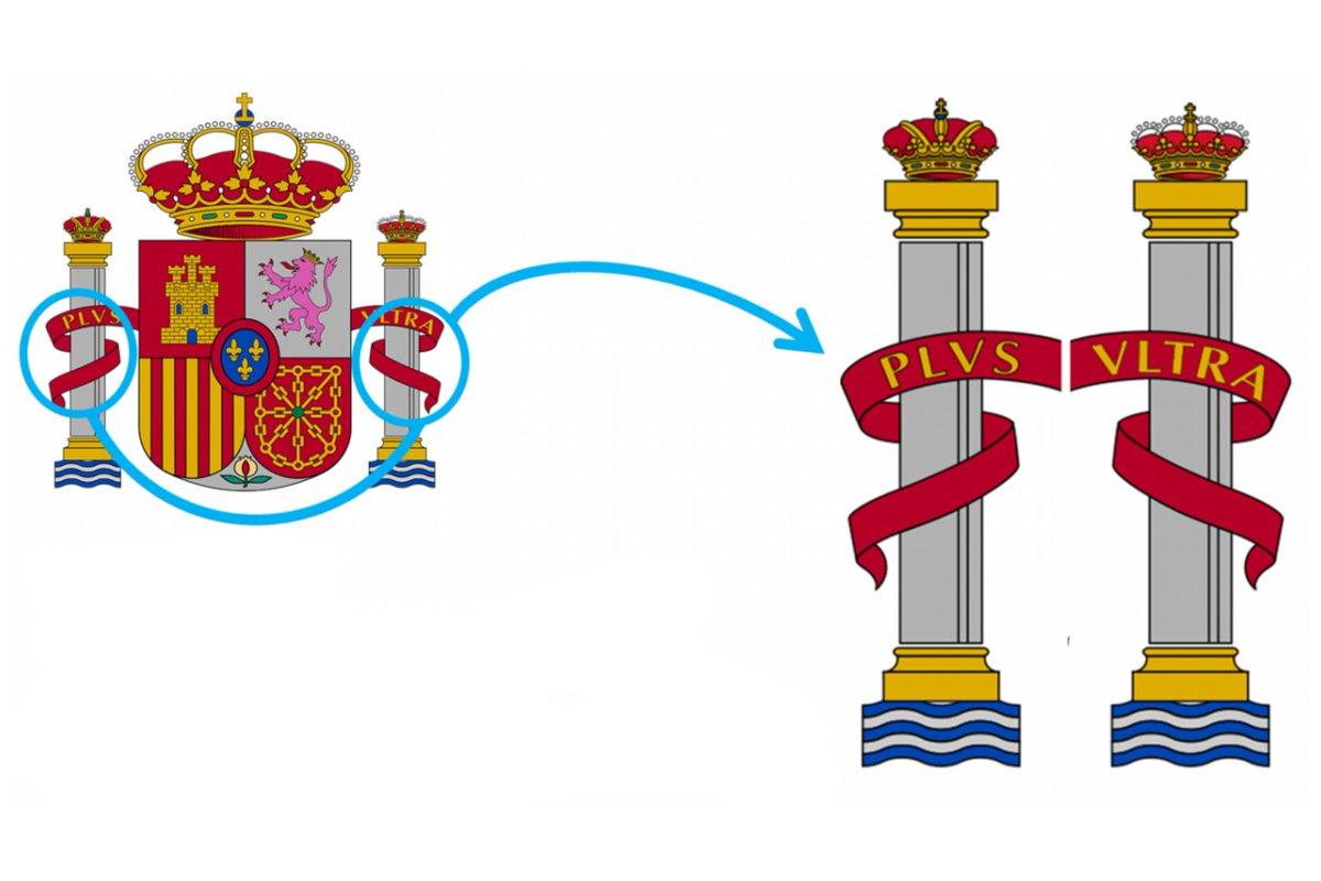 columnas de hercules en el escudo de españa
