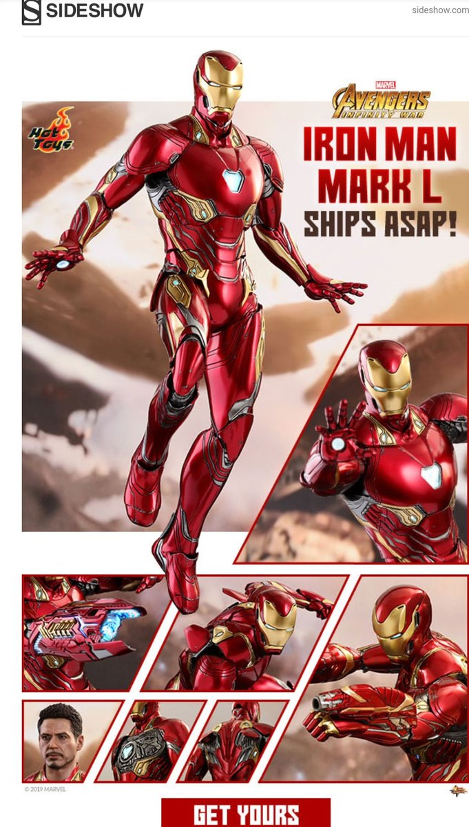 IRON MAN MARK L 6th Scale Figure by #HotToys Diecast Movie Masterpiece Series #AvengersInfinityWar   {https://fave.co/2ZTl2Y5 }  #affiliate #sideshow #tonystark #IronMan #IronManmarkl #figure #AvengersEndgame #Avengers #marvelphase4 #marvelphasefour #MCUpic.twitter.com/FlmTvFklNZ