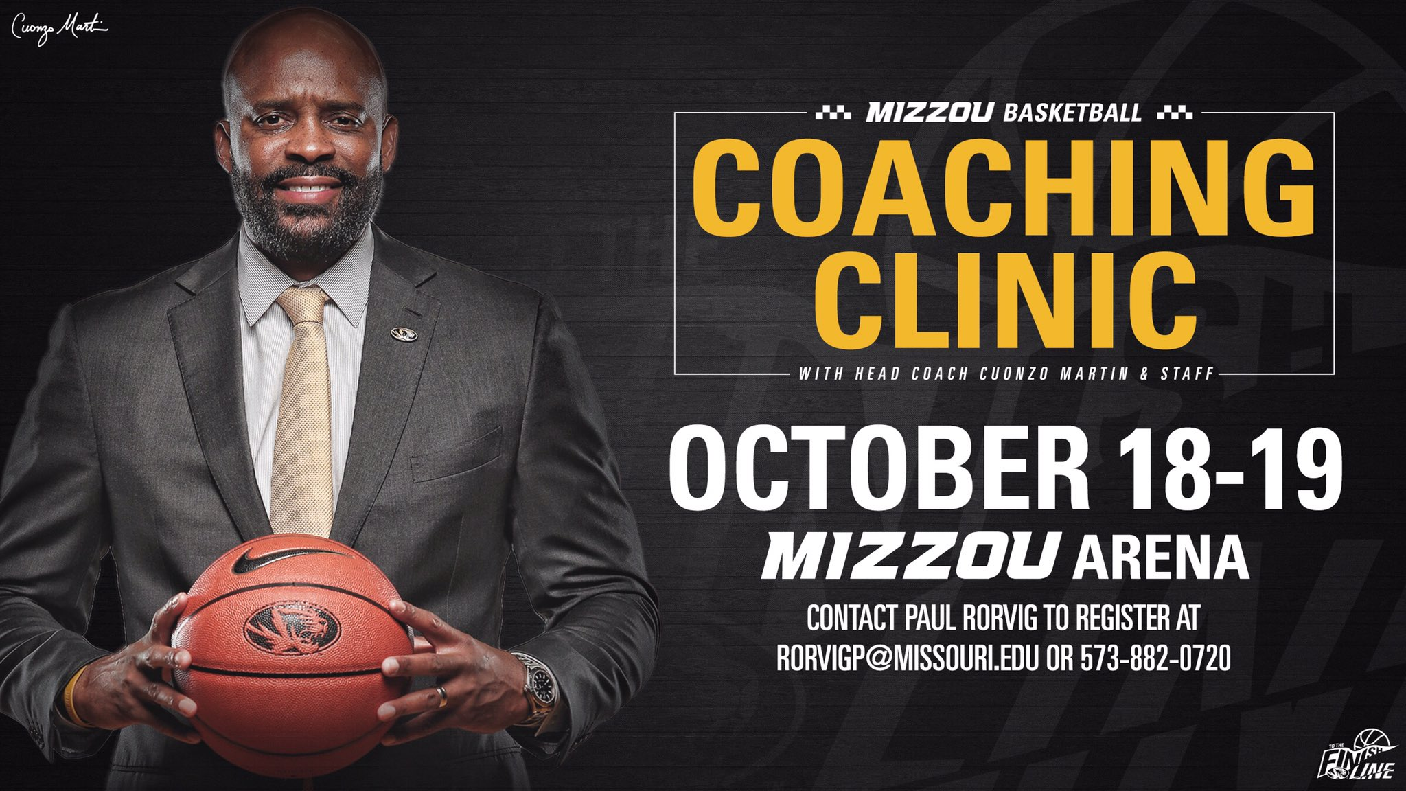 Missouri Tigers NCAA Basketball: Reminder ⤵️  🗓 A coaching clinic hosted by @CuonzoMartin & staff is coming up Oc...