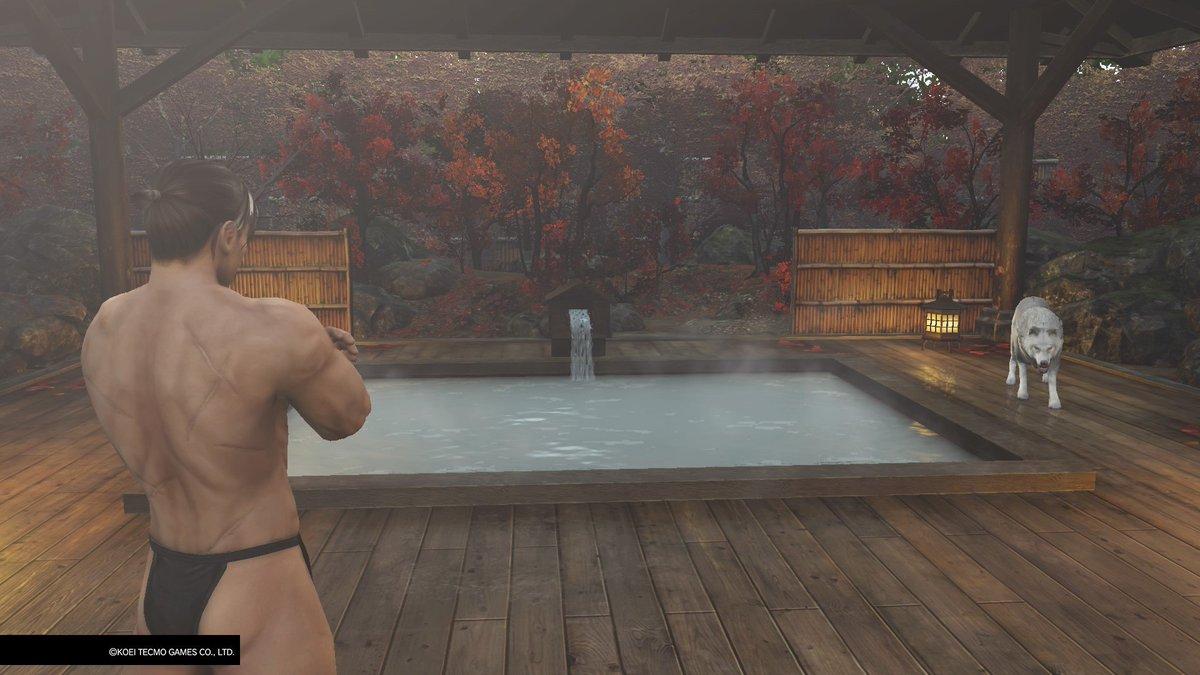 Ryu Hayabusa visiting the Hot Springs in Warriors All Stars @koeitecmoeurope @KoeiTecmoUS #RyuHayabusa #DOA #WARRIORSALLSTARS