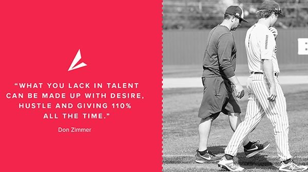 💥Monday Motivation💥 What you lack in talent can be made up with DESIRE, HUSTLE, and GIVING 110% all the time. - Don Zimmer #MondayMotivation #Coach #Athlete #WorkHard #TheHeartOfTheGame #BSNSPORTS