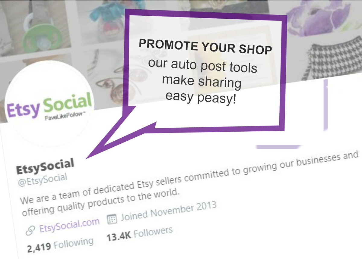Promote your Etsy Shop with a Team beside you! - http://etsysocial.com/  Free 7 Day Trial #etsyshop #etsysellers pic.twitter.com/hU7MJOSpXL