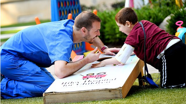 He helps kids discover their power amid pain - Physical therapist Jacob Copeland finds a way to relate to his patients, often using play to help them heal. iuh.me/2N6Sm80