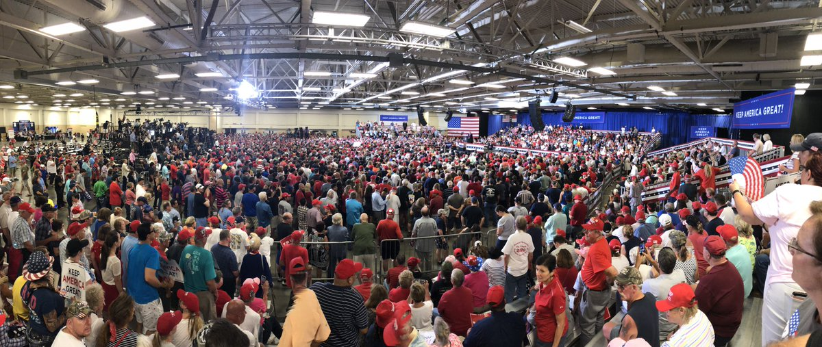 The crowd inside the @realDonaldTrump rally in Fayetteville, NC #trump2020 @TeamTrump @kayleighmcenany