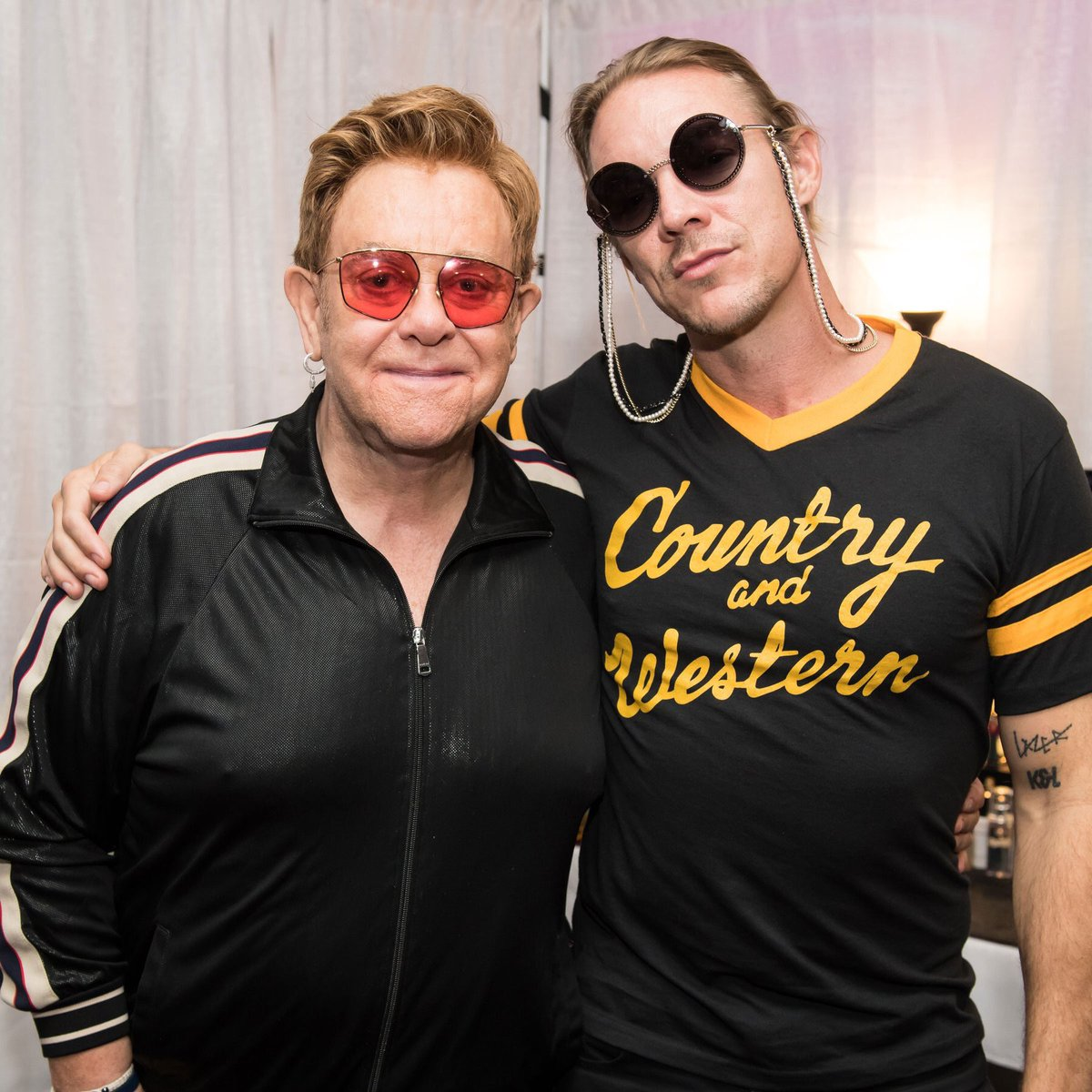 Great to see @diplo in Vegas over the weekend. Looking forward to working with you 🚀 Elton xx 📷: Ben Gibson