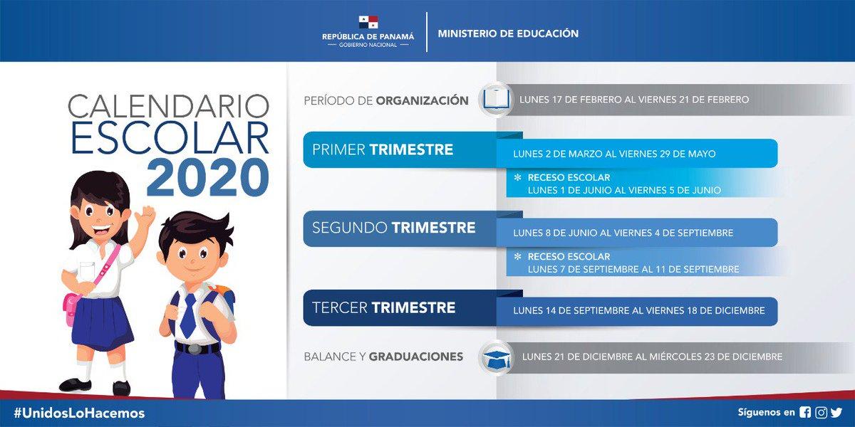Calendario Escolar 2020 Panama Meduca.Ministerio De Educacion De Panama Meducapma Twitter