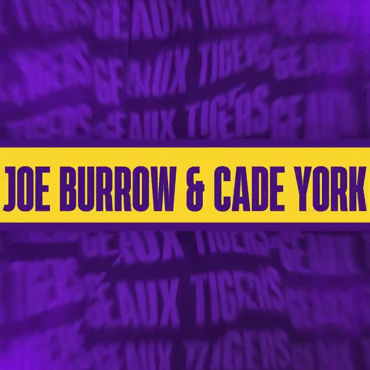 .@Joe_Burrow10 and @YorkCade made some big time plays on Saturday night for the Tigers!
