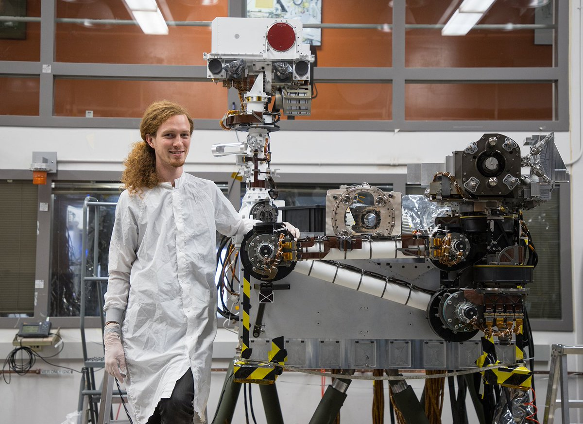It may look cartoonish, but the face of NASAs next Mars rover is serious business for @NASAJPL intern turned #Mars2020 mechanical engineer Jeff Carlson. Find out how he went from an internship in space origami to building a Mars rover: go.nasa.gov/2ZQiWsU #MeetJPLintern