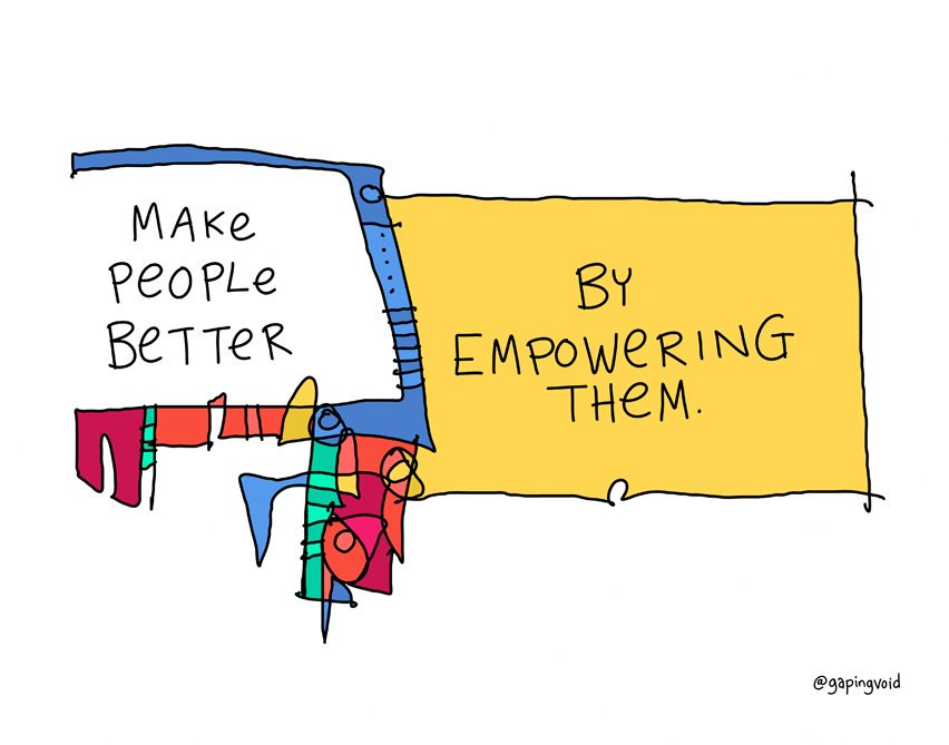 Make people better by empowering them. #Leadership