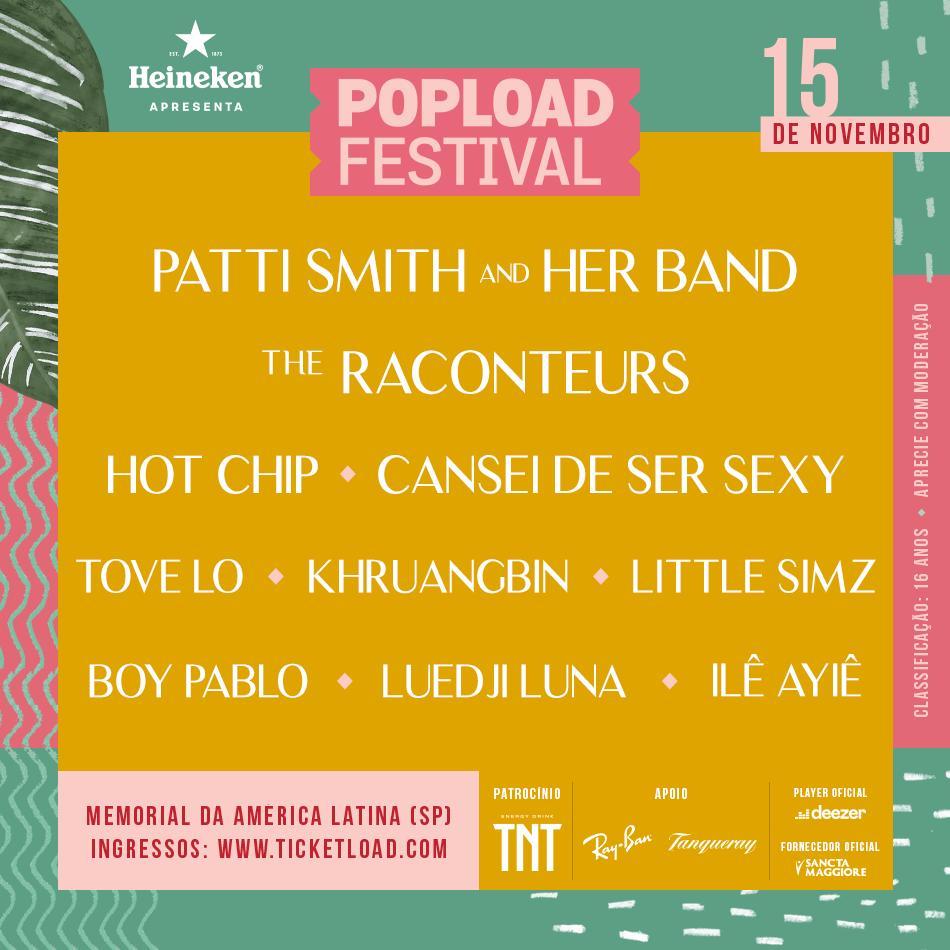 Resultado de imagem para poster pop load festival cansei de ser sexy