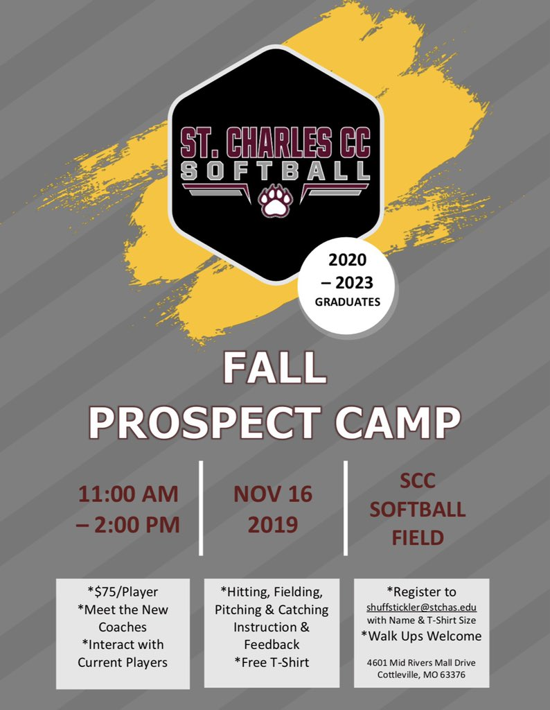 Scc Fall 2020.St Charles Cc Softball On Twitter Attention High