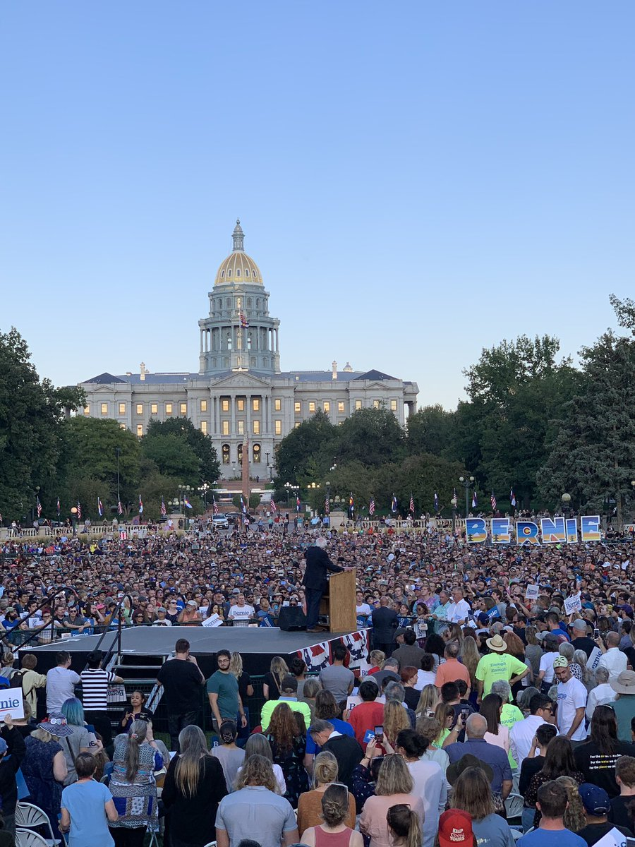 So nice to join @BernieSanders and more than 10,000 of our closest friends in Denver tonight.