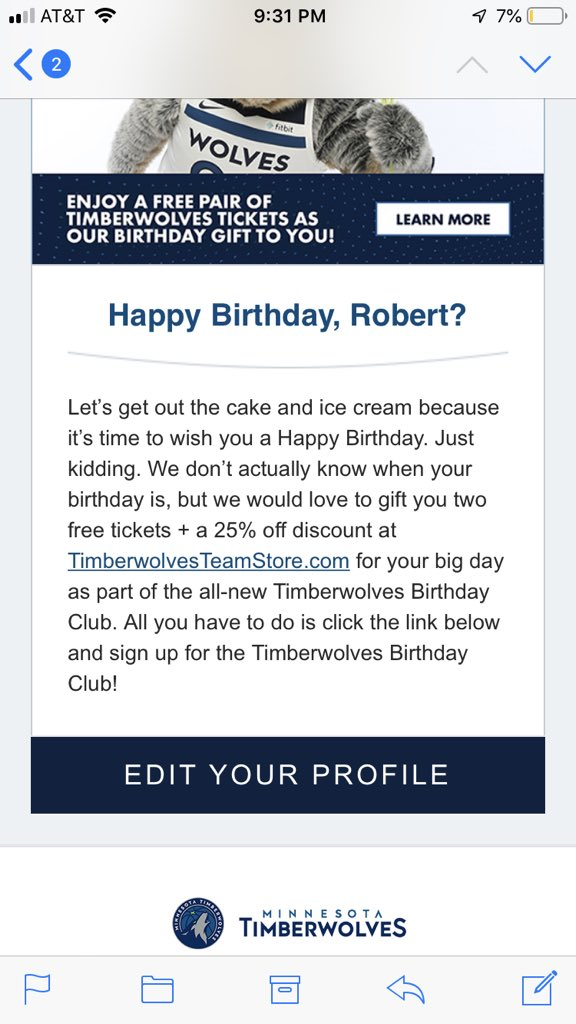 Lmao two magical seasons with the @Timberwolves and you guys don't know my birthday?!?!?!?