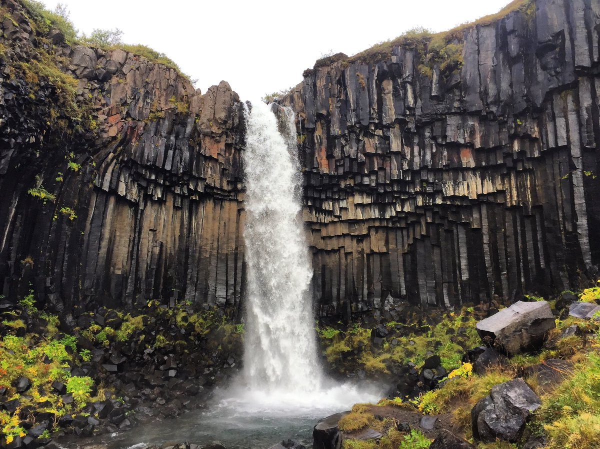Svartifoss - is one of the most incredible waterfalls in Iceland composed of magnificent hexagonal basalt columns #holidays #Iceland 🌋💙