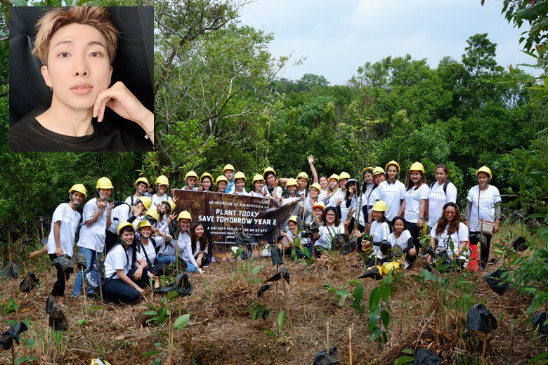 Browse and download photos/videos added by @manilabulletin Pinoy BTS fans plant trees to mark RM's b-day   Hitweer.com