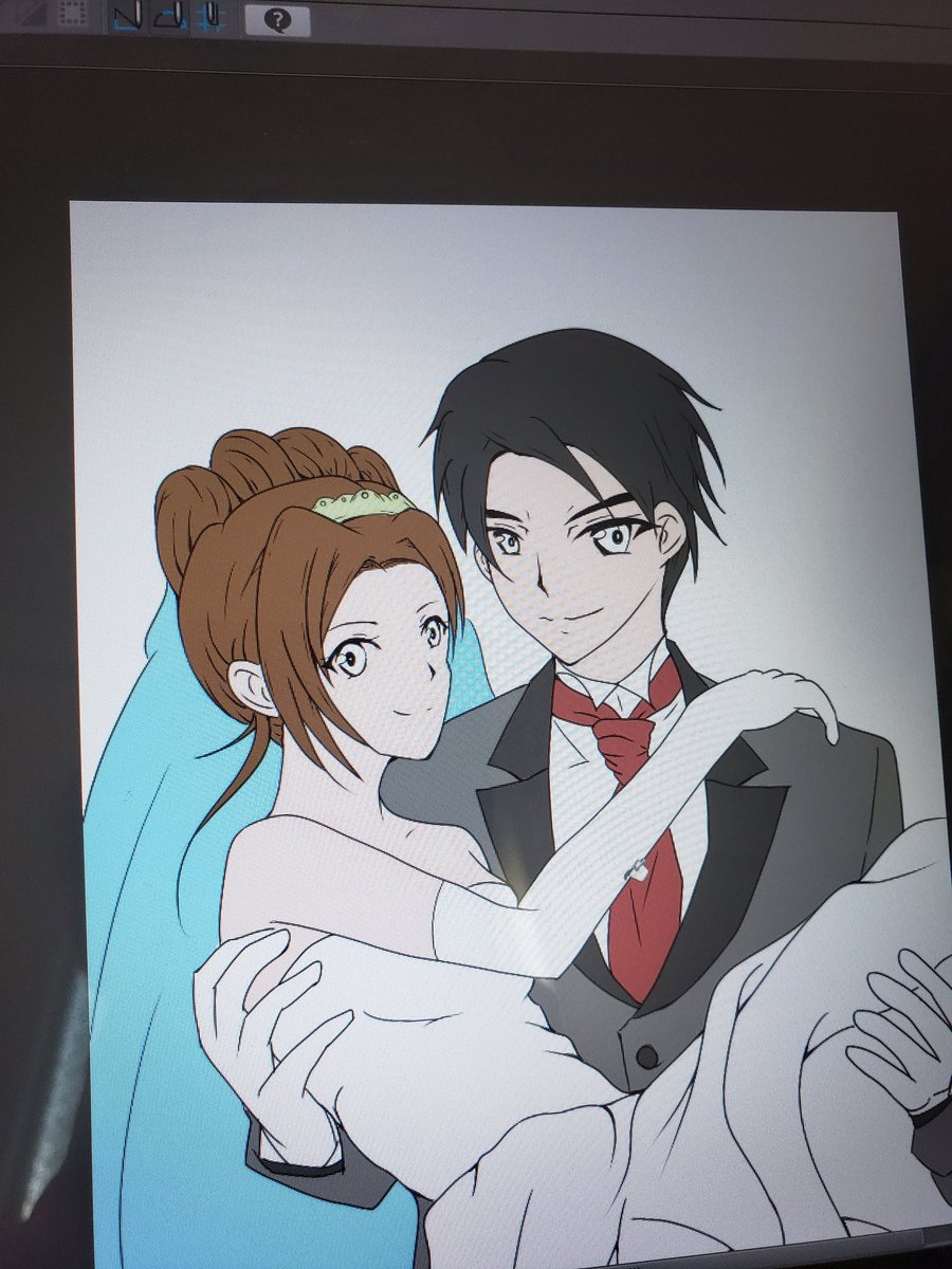 クレセント On Twitter 妹夫婦の結婚式用にイラスト描き始めてる