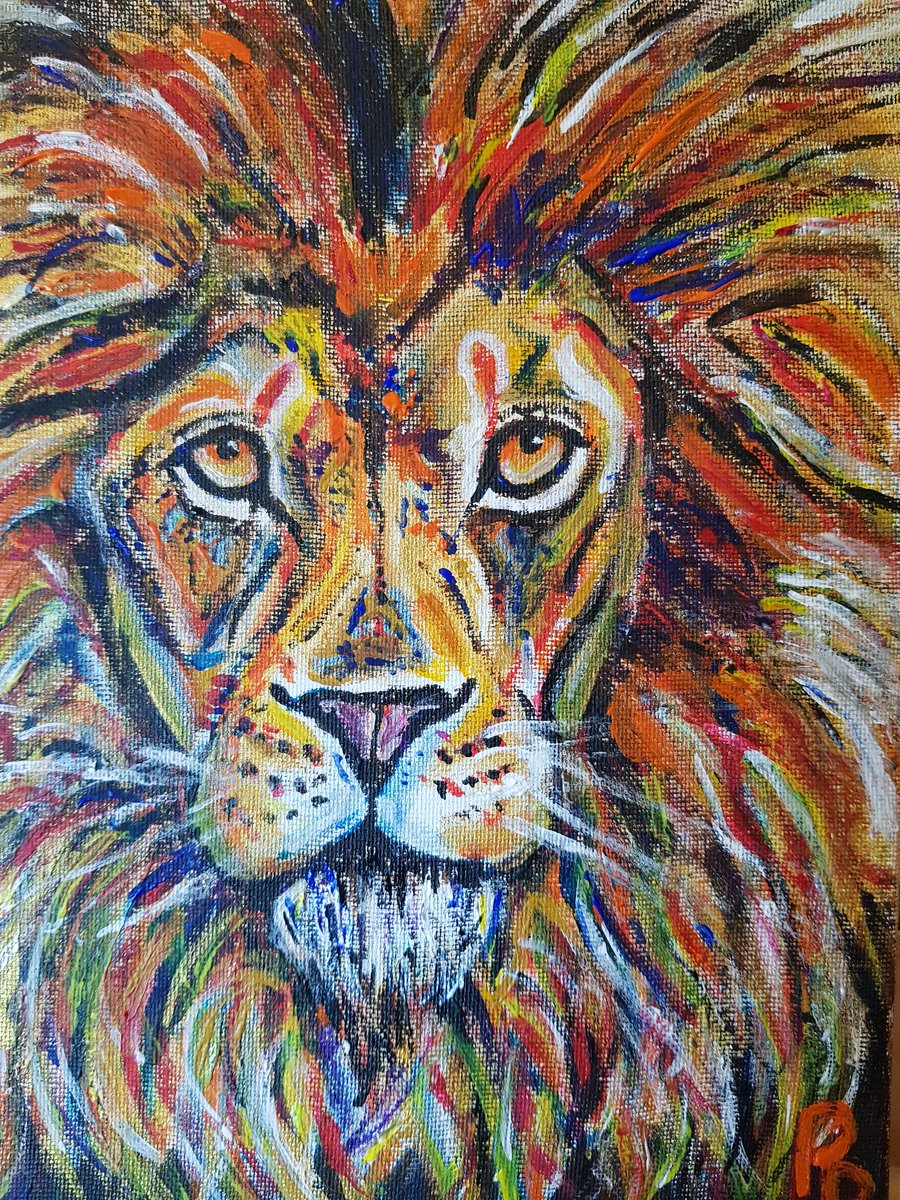Lion painting done ❤❤❤