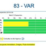 Image for the Tweet beginning: ⛈ Département en vigilance jaune