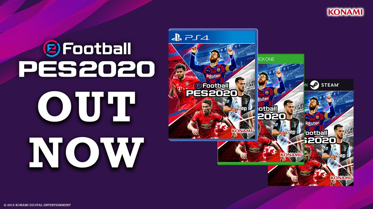 It's time to see that #PlayingIsBelieving...  #eFootballPES2020. Out now on PS4, Xbox One and PC (Steam)