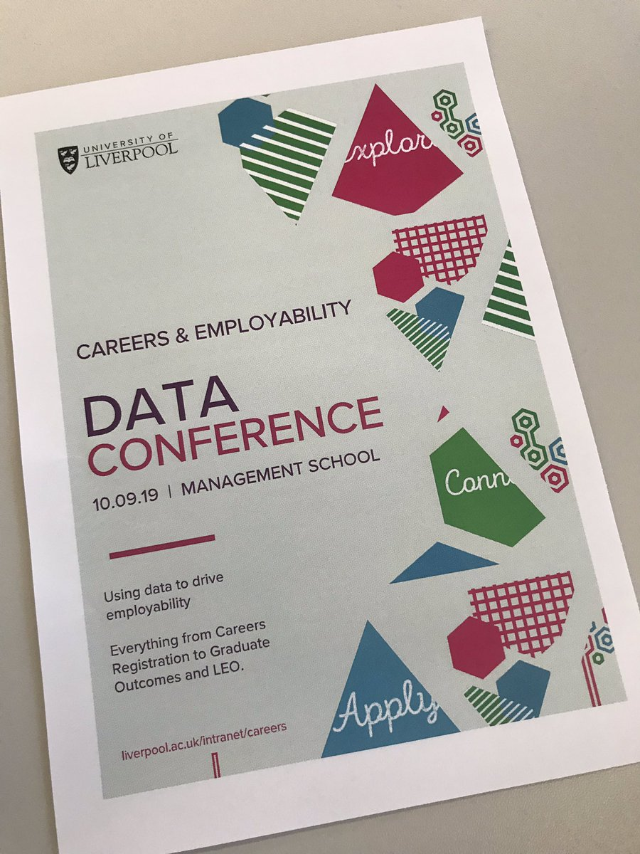 All set for the @livunicareers Data Conference put on by our Data, Tech and Comms team. It's for colleagues across @LivUni to learn about what data we collect and how it can be best used to inform our collective work. Up first is @lmicharlie for some wider context.