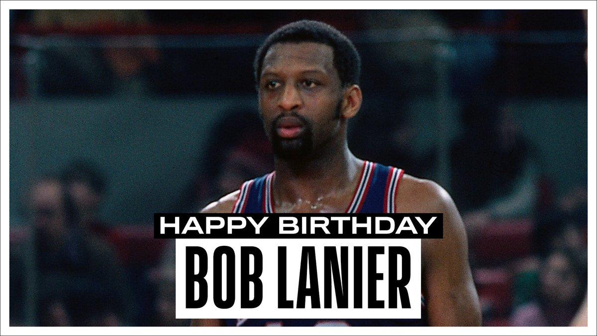 Join us in wishing a Happy 71st Birthday to 8x #NBAAllStar, 1974 All-Star MVP & @Hoophall inductee, Bob Lanier! #NBABDAY