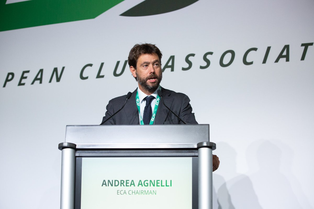 Congratulations to @ECAEurope Chairman Andrea Agnelli on his re-election at the #ECAGeneralAssembly.