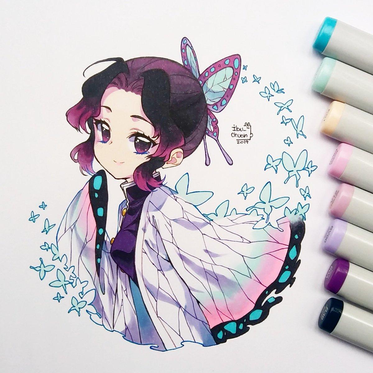 🦋 Shinobu kochou 🦋 La pequeña mariposa enojada; Amante de las mariposas y molestar al Tomioka san XD #kimetsunoyaiba