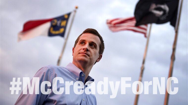 Republicans were caught red handed cheating & trying to steal #NC09. Cheaters don't deserve a do-over, but North Carolina law required it. We have a chance to make it right. Please, folks in Charlotte and places east, vote #McCreadyforNC TODAY! @McCreadyForNC #FlipItBlue