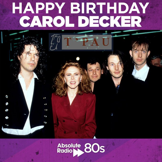 Happy birthday to T\Pau Popstress, Carol Decker! What\s your favourite song from the group?