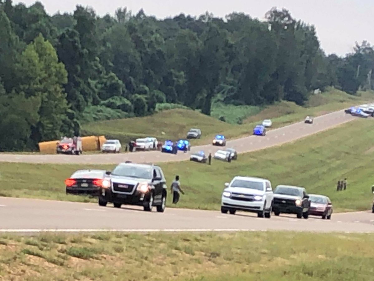 DEADLY MS SCHOOL BUS CRASH: - The driver is dead - 7 kids were hurt - 2 of the kids are in critical condition and are being taken to Le Bonheur Children's Hospital - The bus rolled over on Highway 72 near Hamilton Hopewell Crossing in Benton County, Mississippi.