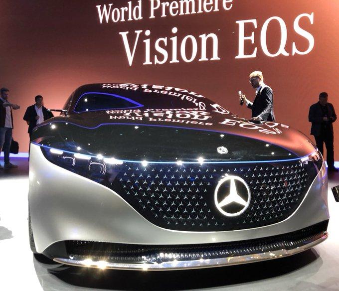 IAA19 startet mit EQS-Vision von MercedesBenz, EQV in Se