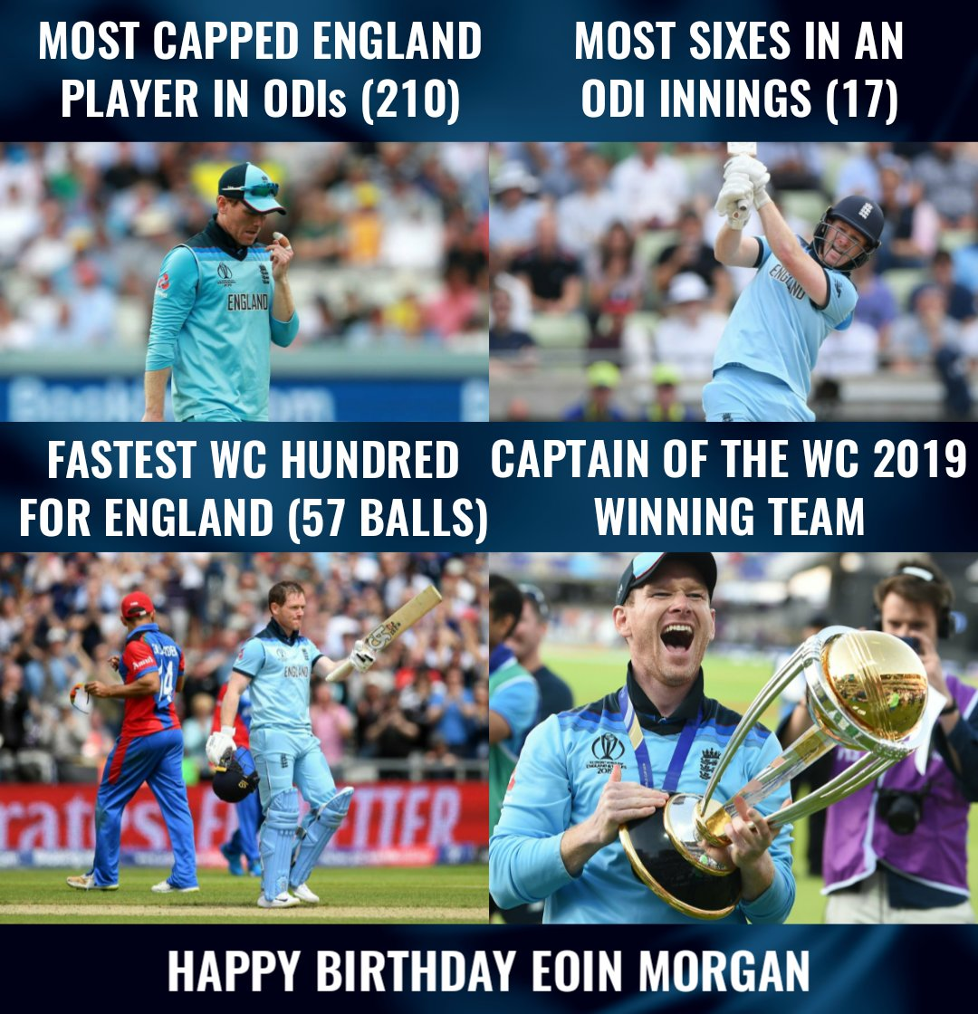Eoin Morgan turns 33 today! Happy Birthday