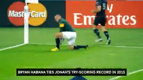 The moment that Bryan Habana tied Jonah Lomus try-scoring record at the Rugby World Cup is our next memorable moment with @Mastercard. You could win a R5000 prepaid Mastercard every week until 18 September 2019. Visit bit.ly/MasterCardSupe… to enter.