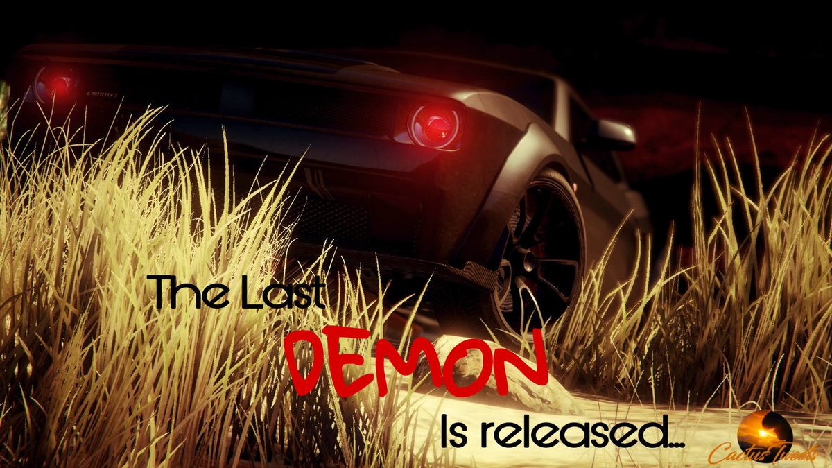 😈The last🔥 🔥DEMON😈 is released ! The final Dodge Challenger SRT Demon rolled off the assembly line in 5/30/18, at Brampton Ontario. A legend of a car!! This replication is to honor the last of its breed.😈🔥 #daSnakZ #VisualArt #GTA5 #CactusTweets_ #CrewWithNoName