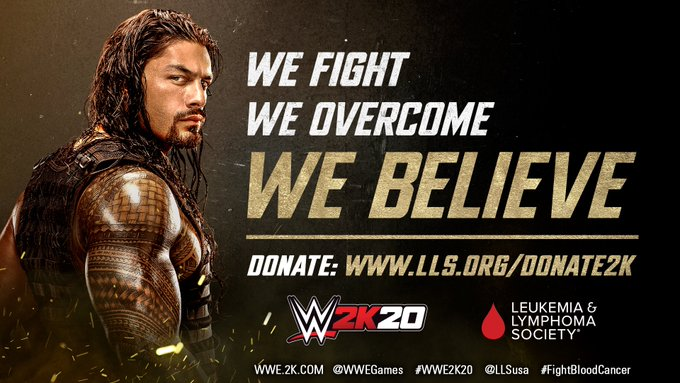 WWE And 2K To Donate $2 Per Re-Tweet In New WWE 2K20 Campaign To Benefit Leukemia & Lymphoma Society
