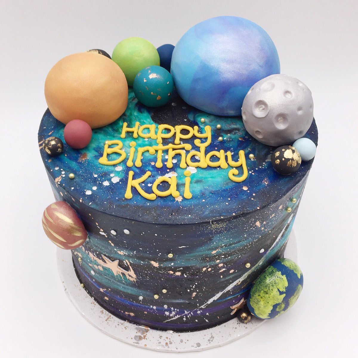 Stupendous 3 Sweet Girls Cakery On Twitter This Outer Space Birthday Cake Funny Birthday Cards Online Inifofree Goldxyz