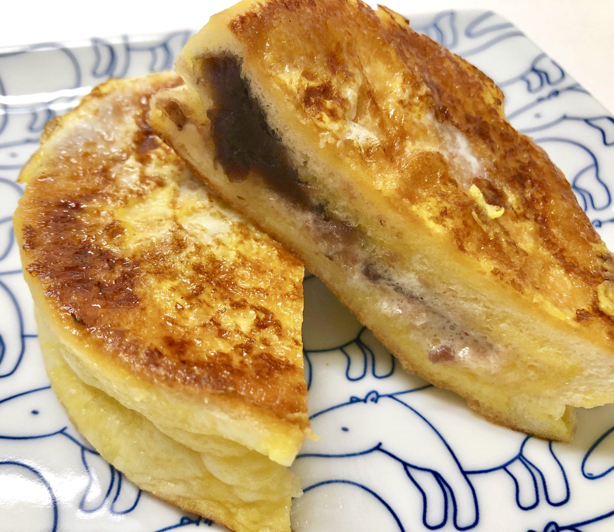 セブンイレブンの「まーるいつぶあん&マーガリン」のパンをさ ・卵1個 ・牛乳60cc ・砂糖小さじ2 の液に15分浸し両面焼いてみて! マーガリンがじゅわ〜〜〜って溶け出す、つぶあんフレンチトーストになるよ。めっちゃ元気になる味だよ。