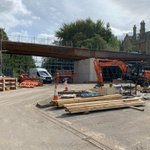 Making good progress on Vicars Bridge, the steels are in place, ready for the next stage @EricWrightGroup @LancashireCC