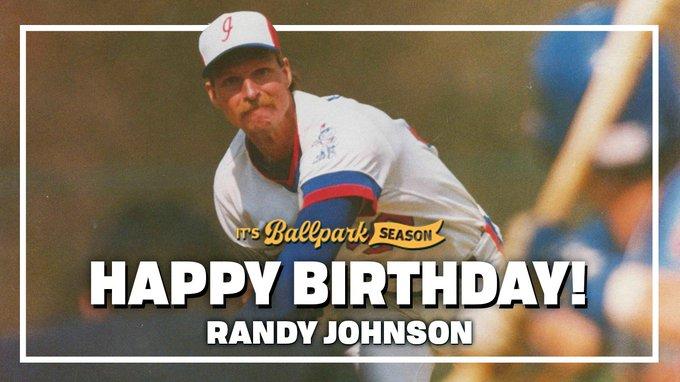 A big day for The Big Unit. Happy birthday, Randy Johnson!