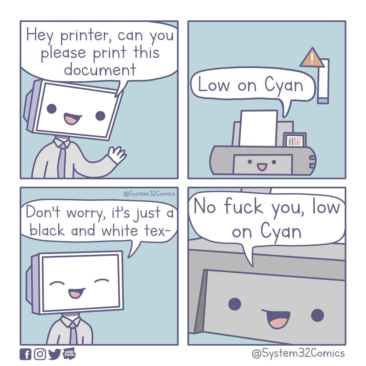 Printers comic