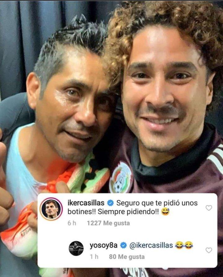 Iker Casillas no dejó pasar la oportunidad de burlarse de Jorge Campos en Instagram