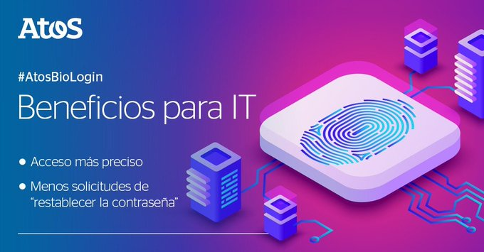 ¿Sabías que #AtosBioLogin presenta grandes beneficios para el equipo de IT? Basado en Windows...
