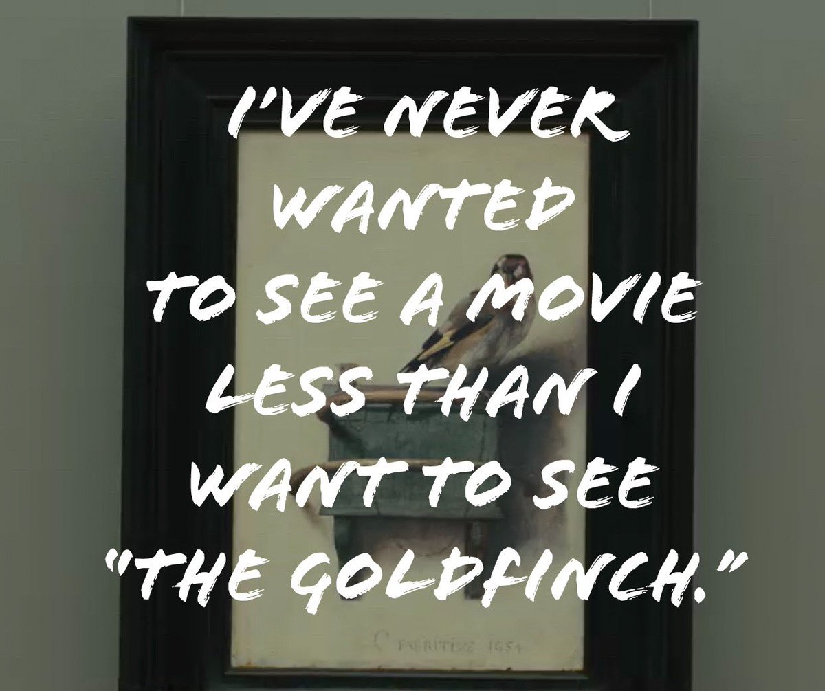 #TrueFacts for a Tuesday morning. #HardPass #NoThanks 😴😴😴😴😴 #TheGoldfinch #ILikeMoviesNotFILMS #LetsGoToTheMovies #movies #UnpopularOpinion #academyawards #sarcasm #popculture