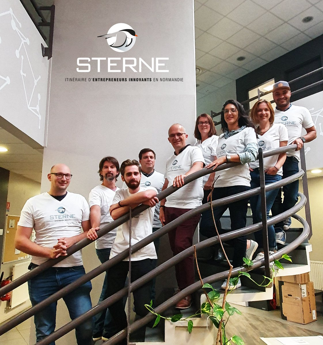 10 #Normands se lancent dans l'aventure entrepreneuriale ! Voici les visages de la 9e promo de @ItinerR_Sterne : ils ont…