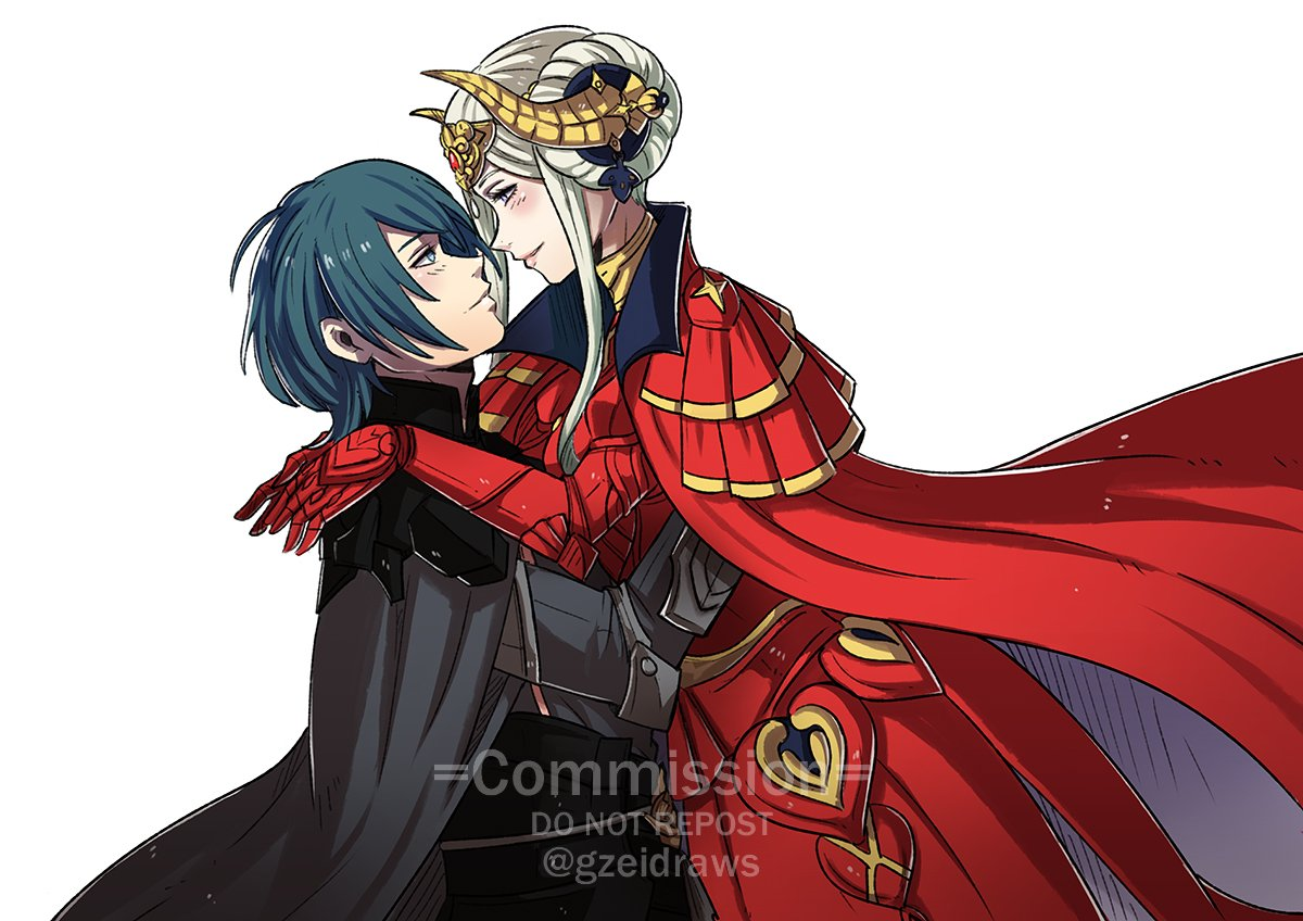 #FE3H commission of Byleth x Edelgard for @HellaBoone !  #FE3HSpoilers *Please don't repost unless you're the client* https://t.co/xUgwv6HcG5