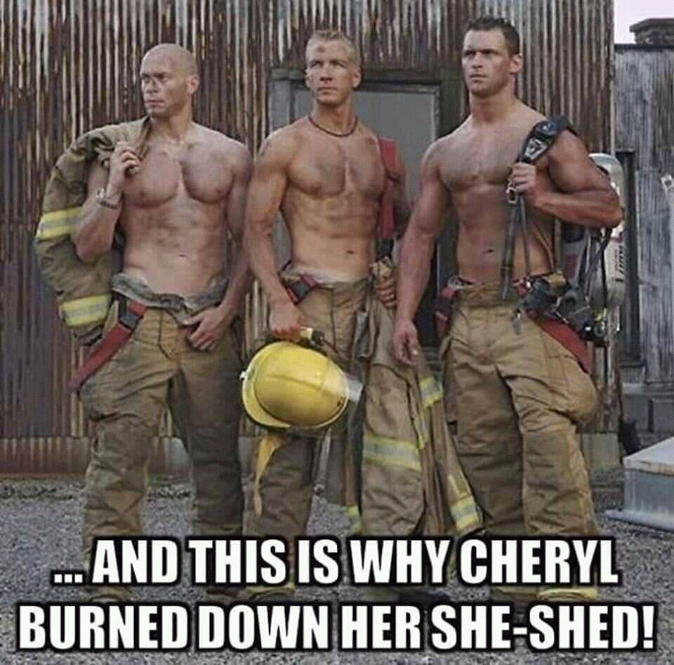 So Why did Cheryl burned down her 'She-Shed' again? ...lol #FunniestTweets